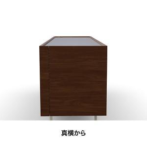 サイドボード イタリア カリガリス ホリゾン 210cm×50cm×74cm ウォルナット ガラストップ |lepice|03