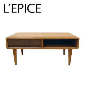 天然木 リビングテーブル 85cm×50cm×36cm アッシュ ウォルナット オイル仕上げ|lepice