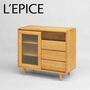 サイドボード 天然木 90cm×40cm×80.3cm アッシュ オイル仕上げ|lepice