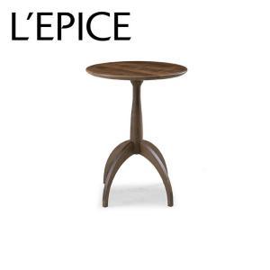 サイドテーブル コーヒーテーブル 円形 45cm×45cm×59.5cm ROSE MARY ウォルナット|lepice