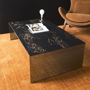 カリガリス ブリッジ BRIDGE リビングテーブル センターテーブル ブラックマーブル天板×ガラスフレーム 送料無料|lepice|02