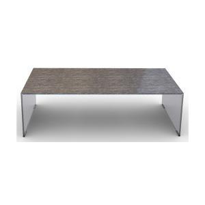 カリガリス ブリッジ BRIDGE リビングテーブル センターテーブル ブラックマーブル天板×ガラスフレーム 送料無料|lepice|03