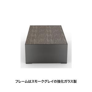 カリガリス ブリッジ BRIDGE リビングテーブル センターテーブル ブラックマーブル天板×ガラスフレーム 送料無料|lepice|04