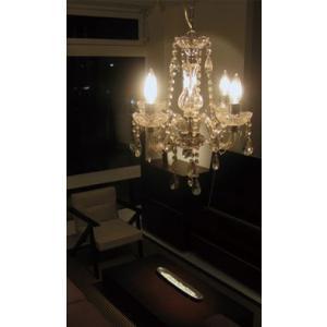 国産 ペンダントライト シャンデリア マエストロ クリア 60W シャンデリア球 LED対応 蛍光灯対応|lepice|03