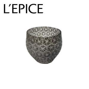 モダン切子 酒カップ 全刺子 ブラック  切子 カットグラス 普段使い用 ギフト用|lepice
