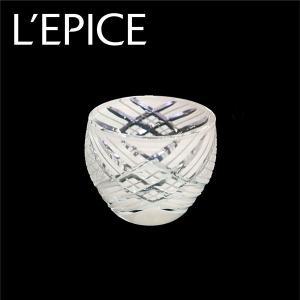 モダン切子 酒カップ 刺子クロス ホワイト  切子 カットグラス 普段使い用 ギフト用|lepice