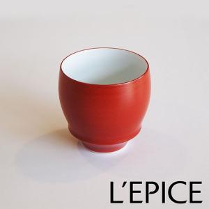本醸造・純米酒用ぐい呑み SAKE GLASS 『朱巻(あかまき)』|lepice