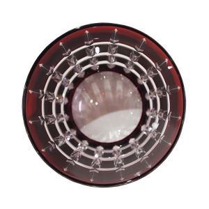モダン切子 ロックグラス クロスストライプ レッド  切子 カットグラス 普段使い用 ギフト用|lepice|03