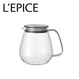 ティーポット 耐熱ガラス クリア 720ml  キントー ユニティー|lepice
