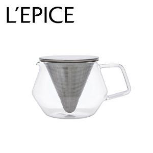 ティーポット 耐熱ガラス クリア 600ml  キントー キャラット|lepice