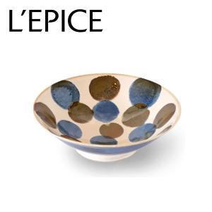 美濃焼 点打(てんうち) 浅鉢 筆青 にほんの藍  大鉢 径25.5cm 日本製|lepice