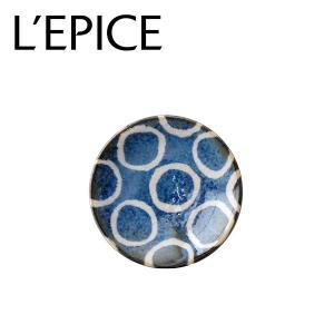 美濃焼 百丸(ひゃくまる) 小皿 筆青 にほんの藍  お手塩 豆皿 径9cm 日本製|lepice