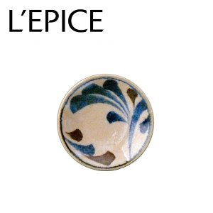 美濃焼 唐草(からくさ) 小皿 筆青 にほんの藍  お手塩 豆皿 径9cm 日本製|lepice