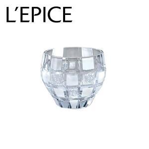 モダン切子 酒カップ 刺子市松 ホワイト  切子 カットグラス 普段使い用 ギフト用|lepice