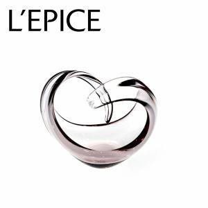 スガハラ フラワーベース ハートクルヴァ 花器 バイオレット 手作り 一輪挿し ギフト|lepice