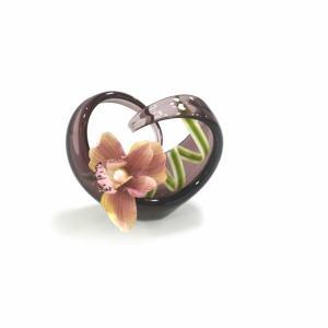 スガハラ ハートクルヴァ 花器 ワインレッド|lepice|02