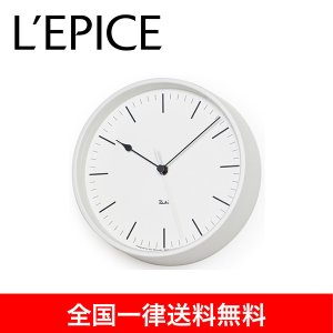 渡辺 力 電波時計 RIKI STEEL CLOCK RC ホワイト|lepice