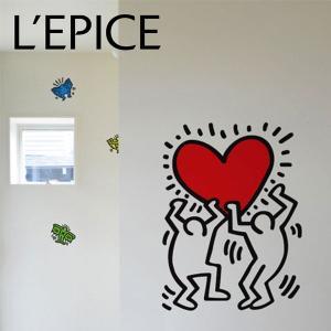 貼ってはがせる ウォールステッカー BLIK キース・ヘリング  アンタイトルド・ハート|lepice