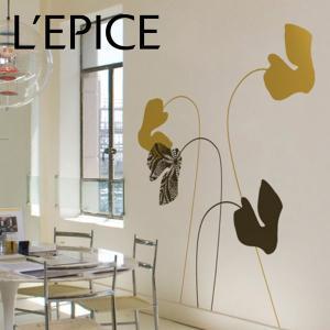 貼ってはがせる ウォールステッカー BLIK イラン・デイ シクラメン ココア/ゴールド|lepice