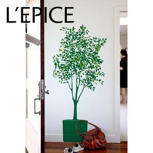 貼ってはがせる ウォールステッカー BLIK ミナ・ジャヴィッド  オリーブの木 ダークグリーン/キウイ|lepice
