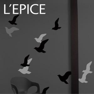 何度でも貼ってはがせる リスティック BLIK フライ グレーアソート|lepice