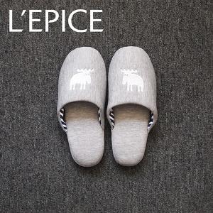 MOZ スリッパ ニットタイプ ホワイト M|lepice