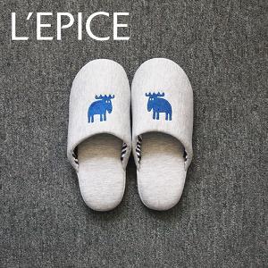 MOZ スリッパ ニットタイプ ネイビー|lepice