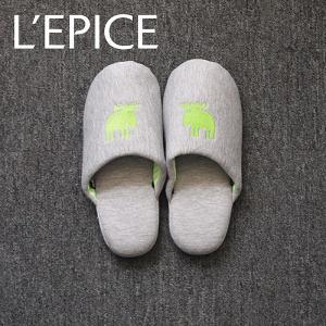 MOZ スリッパ ニットタイプ グリーン|lepice