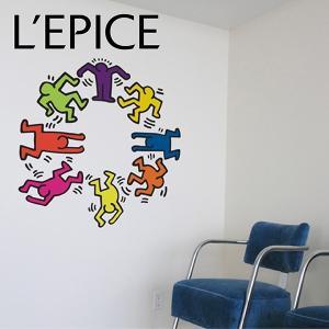 貼ってはがせる ウォールステッカー  BLIK キース・ヘリング ダンサーズ  Dancers カラーアソート|lepice