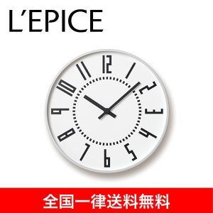 eki clock  駅クロック ホワイト 五十嵐威暢  TIL16-01 WH  送料無料|lepice