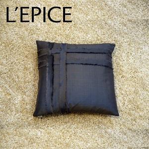 sola silk クッション 30×30cm 中芯付き ダークグレー 33%オフ価格|lepice