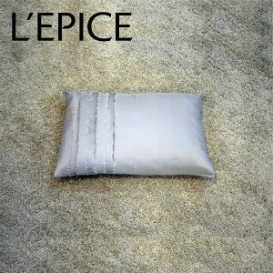 sala silk クッション 30×45cm 中芯付き グレー|lepice