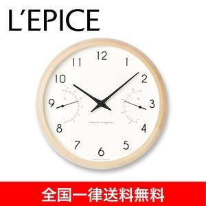 温湿度計付き クォーツ時計 カンパーニュ エアー  Campagne air  ナチュラル PC17-05NT  送料無料|lepice