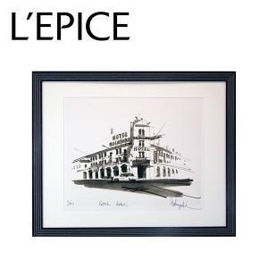大西信之 リトグラフ A Little Hotel  店頭展示品 現品処分 キズ・汚れあり 店頭確認可 送料無料 lepice