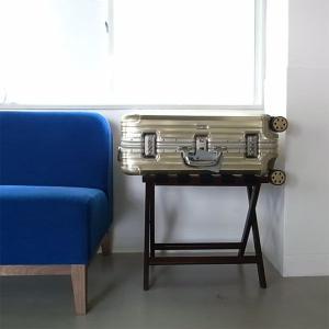 <ダークブラウン>木製バゲージラック・バゲッジスタンド | baggage rack HOTELS ||  L.E.S Original|les