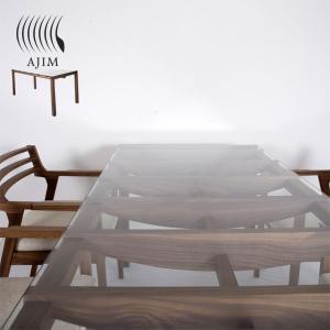 ガラス天板のダイニング テーブル バルコ ウォールナット|les