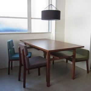 棚付き木製ダイニングテーブル FLAME ブラウン | flame dining table BROWN || SIEVE シーヴ|les