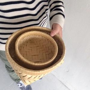 <浅型small>青森ヒバ整理籠 |les|05