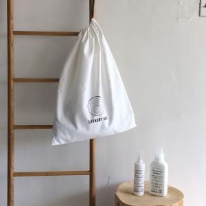 ホテルの客室で使われているランドリーバッグ(クリーニングサービス用の洗濯物を入れる袋)です。トートバ...