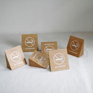 <oak>禁煙サイン 6コセット(半ダース)|les