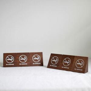 <walnut>禁煙サイン 6コセット(半ダース)|les