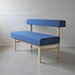 <生地ランクB/アッシュ>アウル 木製背つきベンチ | OWL dining bench || L.E.Sオリジナル    北欧 ミッドセンチュリー カフェ|les
