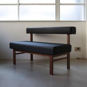 <生地ランクB/ウォールナット>アウル 木製背つきベンチ | OWL dining bench walnut || L.E.S    北欧 ミッドセンチュリー カフェ|les