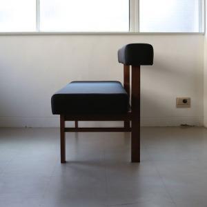 <生地ランクA/ウォルナット>木製背つきダイニングベンチ アウル | OWL dining bench || L.E.Sオリジナル    北欧 ミッドセンチュリー カフェ|les|03