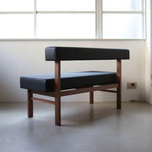 <生地ランクA/ウォルナット>木製背つきダイニングベンチ アウル | OWL dining bench || L.E.Sオリジナル    北欧 ミッドセンチュリー カフェ|les|04