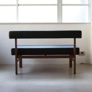 <生地ランクA/ウォルナット>木製背つきダイニングベンチ アウル | OWL dining bench || L.E.Sオリジナル    北欧 ミッドセンチュリー カフェ|les|05
