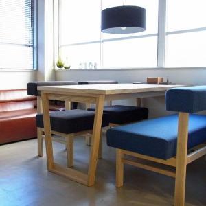 <生地ランクB/アッシュ>アウル ダイニング4点セット(背付きベンチ) | OWL dining set TYPE1 || L.E.Sオリジナル    北欧 ミッドセンチュリー カフェ|les