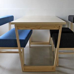 <アッシュ>木製ダイニングテーブル アウル | OWL    北欧 ミッドセンチュリー カフェ|les