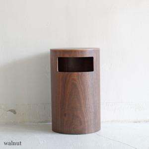 <walnut>サイドテーブル&ダストボックス|les