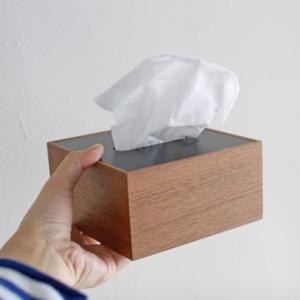 <ウォルナット>木製蓋式ティッシュボックス(ハーフサイズ) ホテルズ | Tissue box HOTELS walnut || L.E.S original|les